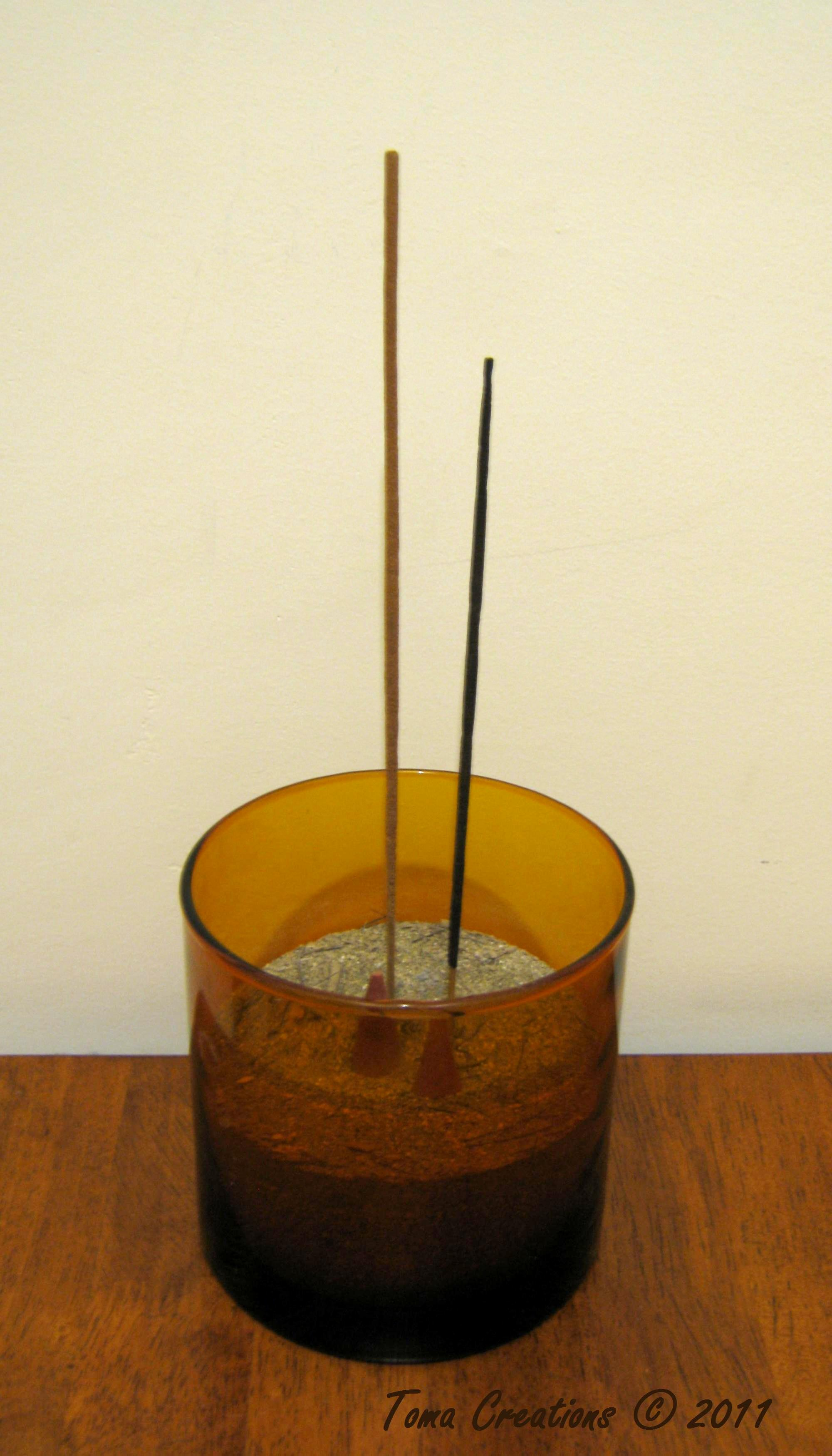 super easy incense burner, stick and candle holder | toma creations