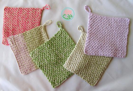 Dishcloth, hot pot holder-pad Toma Creations