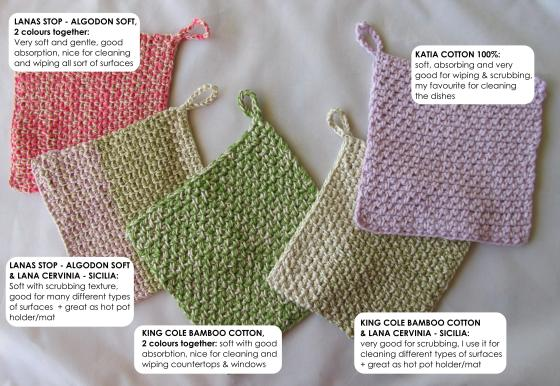 dishcloths, hot pot holder-mat-pad analysed